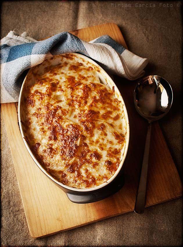 Gratinado de patatas delfinés-castellano o gratin dauphinois | El Invitado de Invierno