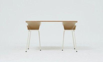 Polygon work table almond