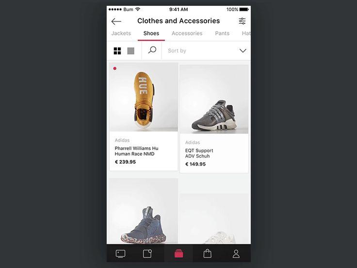 Catalog screen in e-commerce app