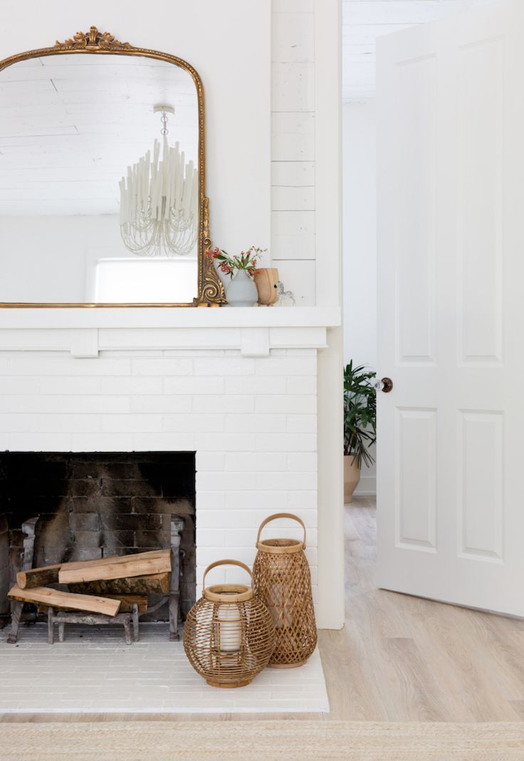 How To Style The Anthropologie Gleaming Primrose Mirror Home Fireplace Fireplace Mirror Mirror Over Fireplace