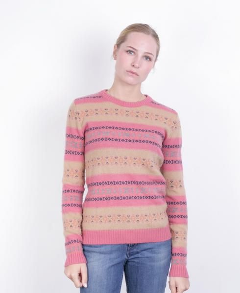 Gant Women's S Jumper Crew Neck Sweater Wool Pink - RetrospectClothes