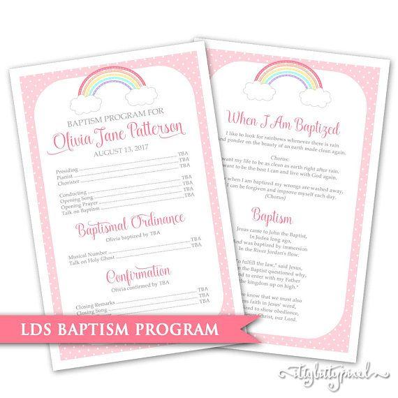 Lds baptism program