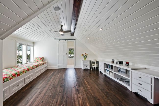 Bob's Tip of the Day: Can your attic be converted? Habitable attic space must satisfy the same requirements that govern rooms in the rest of the house. To pass code, there must be at least 70 square feet where the ceiling height is 5 feet or higher. At least 50% of the usable area (calculated above) must have ceilings of at least 7 feet. Some homeowners satisfy this code by installing a dormer.