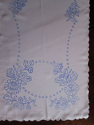 Stamped Table Runner For Hand Embroidery Hungarian Kalocsa 33x14 Floral Roses