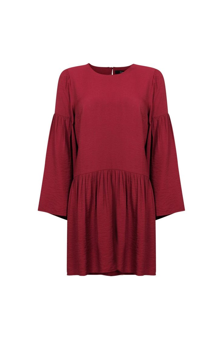 DROP WAIST LS DRESS
