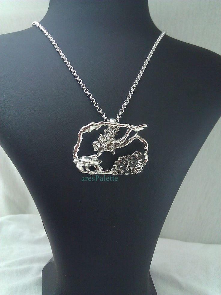 "#scuba #diver #sea #carettacaretta #friendly #necklace  http://Scuba Divers and ""Friendly"" sign necklace-925 Silver-Handmade"