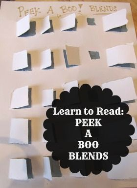 "Creative idea! ""Peek A Boo"" Blends. {School Time Snippets}"