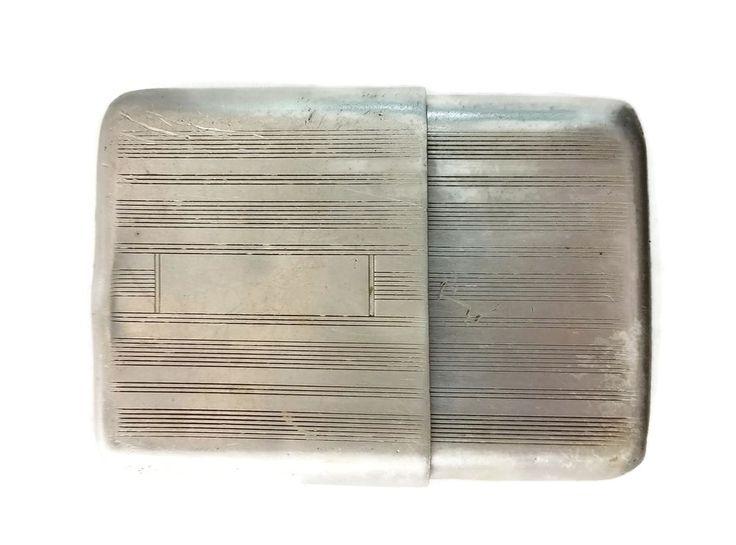 Vintage Railroad Pocket Watch Metal Box Illinois Bunn Special Sangamo 21 Jewel #Illinois
