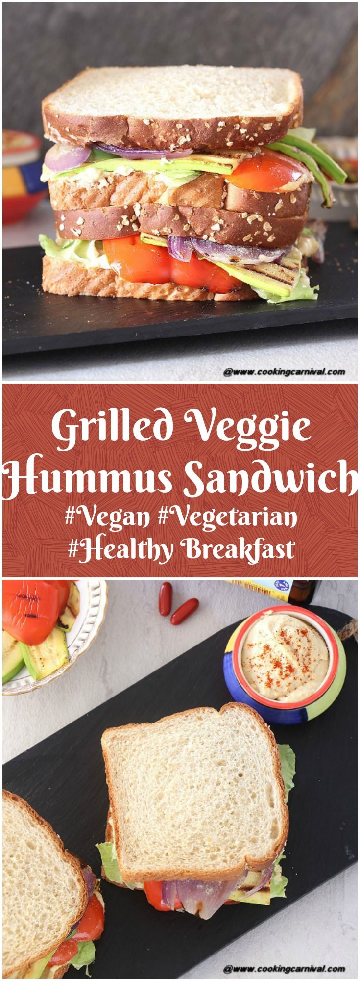 My day start with healthy breakfast. I love to make different types of sandwiches and quesadilla with lots of veggies for the breakfast. One of them is Grilled Veggie Hummus Sandwich. So my today's recipe is Grilled Veggie Hummus Sandwich.  Grilled Veggie Hummus Sandwich is perfect way to start your day. It is so flavorful, healthy and scrumptious. It makes perfect heart-healthy Vegetarian breakfast. #ad #NatureMadePrenatalDHA #CollectiveBias #sandwich #vegan #vegetarian #Breakfast #Healthy