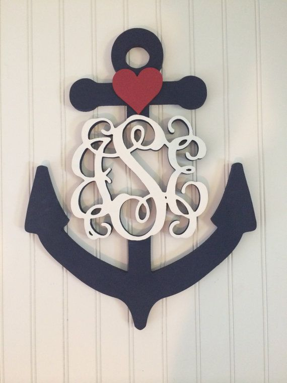 Custom Monogram Anchor Decor by Coastail on Etsy, $75.00  www.gocoastail.com