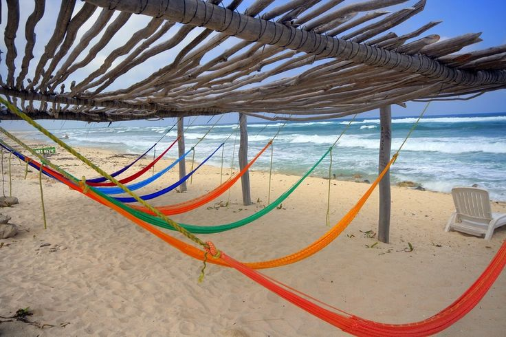 Hammocks at the beach