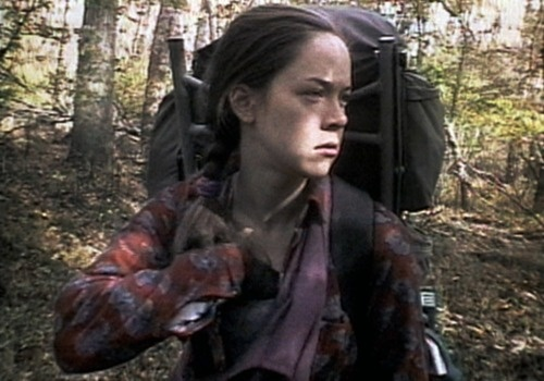 Heather Donahue as Heather Donahue in the Blair Witch Project.