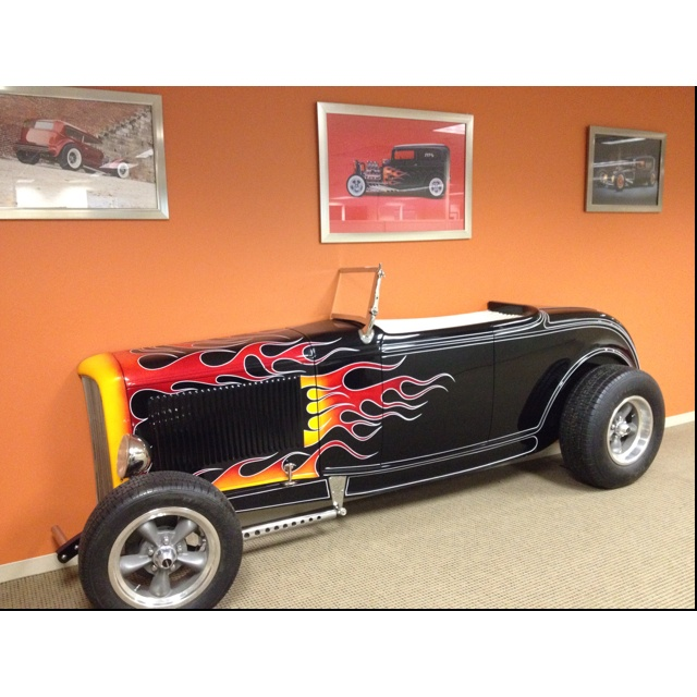 Half Roadster. Wall Art At The Place I Work. #hotrods #cars #
