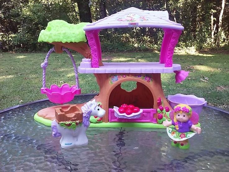 Little People Fairy Treehouse Part - 15: Fisher Price Little People Fairy Treehouse Unicorn Play Set W Fairy