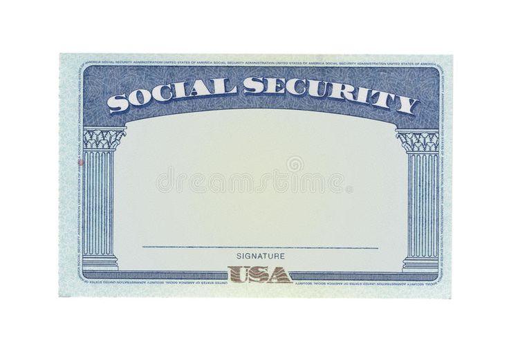 Blank social security card template 9 in 2020 social