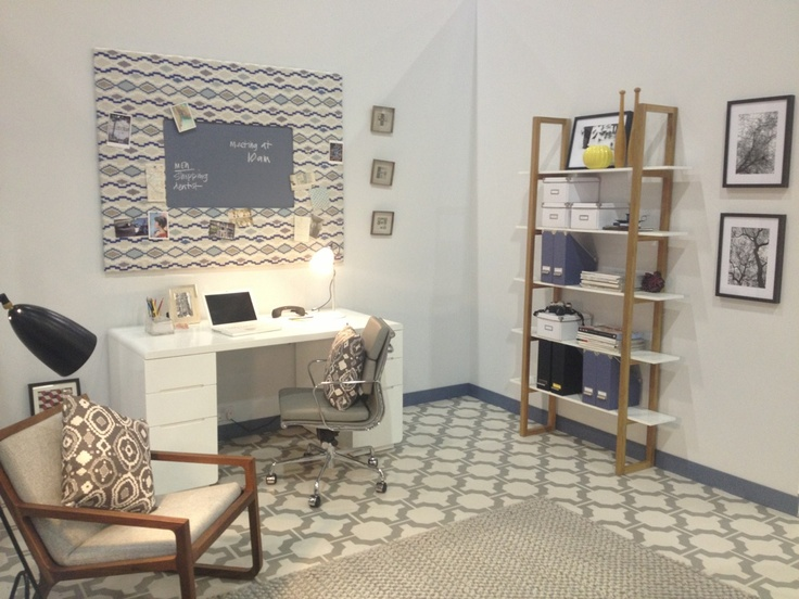 Our Monza desk and Henlow bookcase in the Grand Interiors roomset by interior stylist Lizzie Chambers