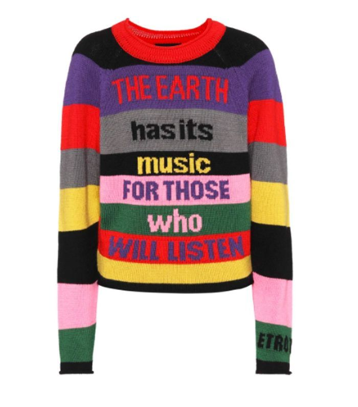 Thanks to Ganni, rainbow-striped jumpers are still big news, so shop our edit of the best colourful knits.