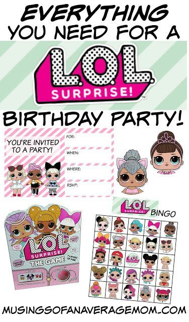 Everything you need for a L.O.L. surprise dolls birthday party - tons of free printables and gift ideas