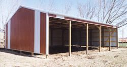 30'W x 45'L x 10'H Loafing Shed Post Frame Building