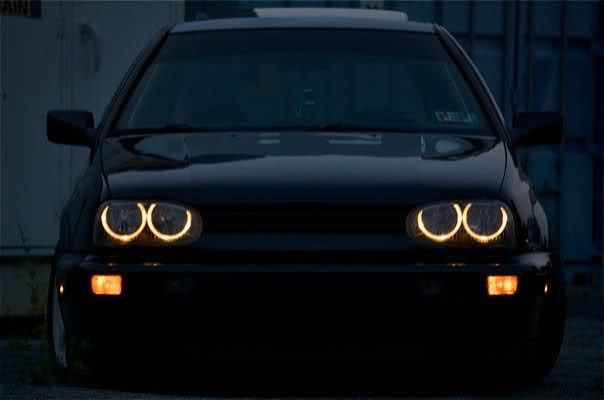 VW MK3 Golf angel eyes headlights