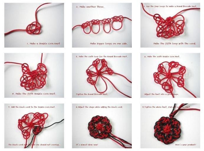 Chinese knot pendant-designed by me!  new on etsy:http://www.etsy.com/listing/98740678/chinese-knot-fiber-pendant-flexible