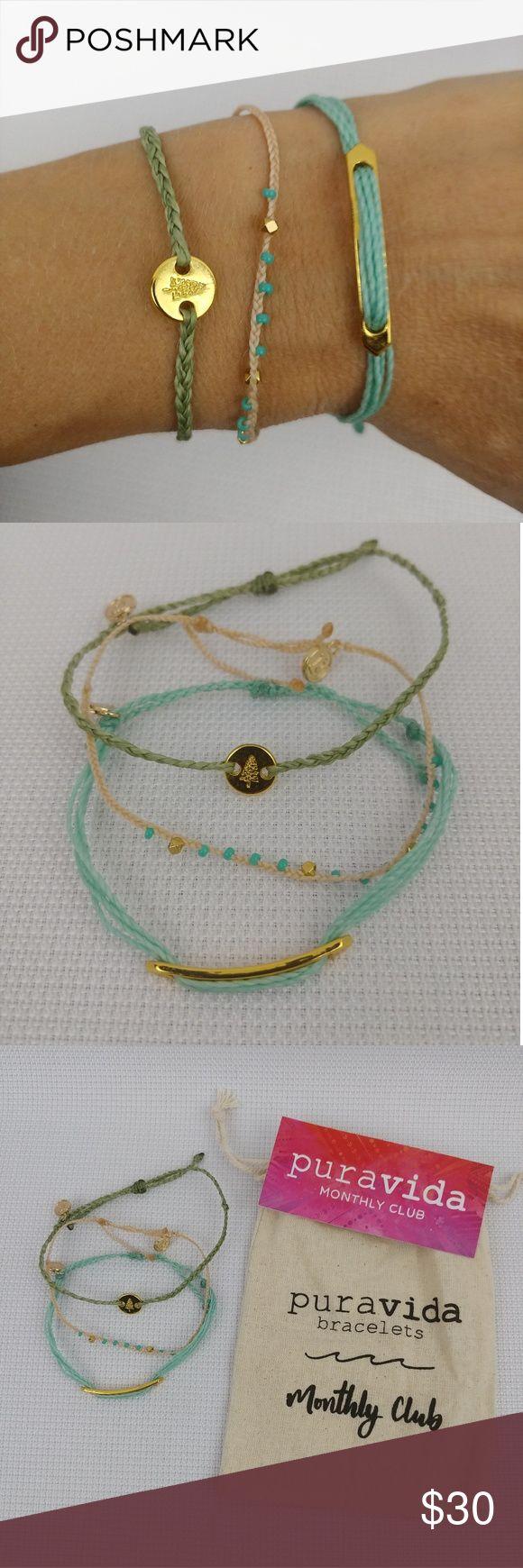 3 pura vida December 2017 monthly Club bracelets Brand new Pura Vida Jewelry Bracelets