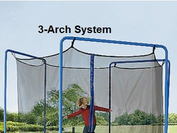JumpKing, Bazoongi, Sams and ALL Universal Brands Net 14-ft (3-Arch or 6-Pole) Enclosure Netting with Straps and Ropes  - Cheap Trampoline Parts, Cheap Trampoline Springs, Cheap Trampoline Pads, Cheap Trampoline Mats