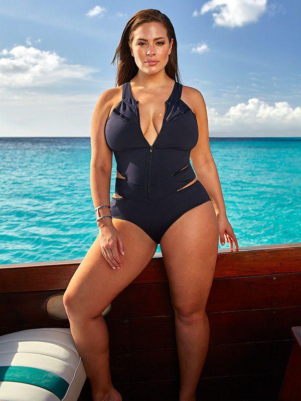 Ashley Gram Swimsuit Model