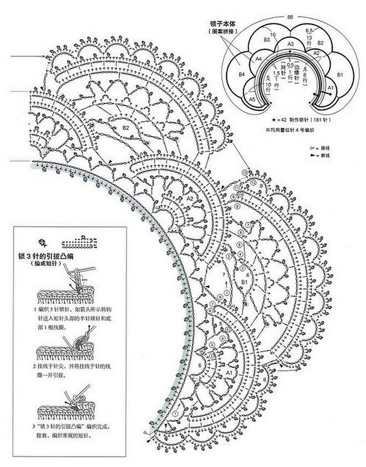 ажурные рисунки крючком схемы и описание