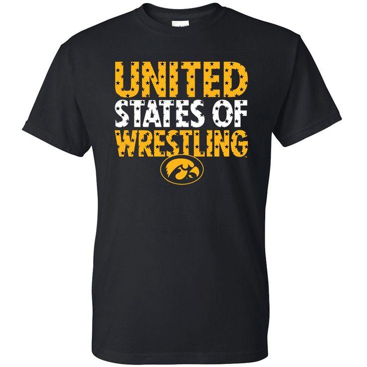 Iowa Hawkeyes Star Fill Wrestling T-Shirt