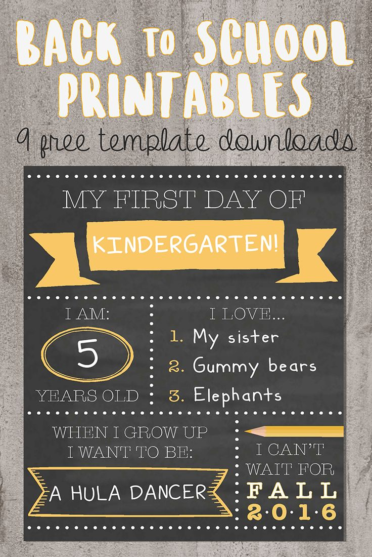 Go back to school in style! Download these free first day of school printables and capture the memory without all the fuss. Whether you have a kindergartener or a high school teen, there's a sign and a style for you.
