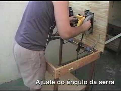 MESA CASEIRA PARA SERRA CIRCULAR MANUAL, SKILSAW...SHOW DO MIRO - YouTube