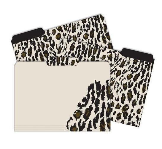 Animal Print File Folder, Cute File Folder, Leopard, Capri Designs File  Folders