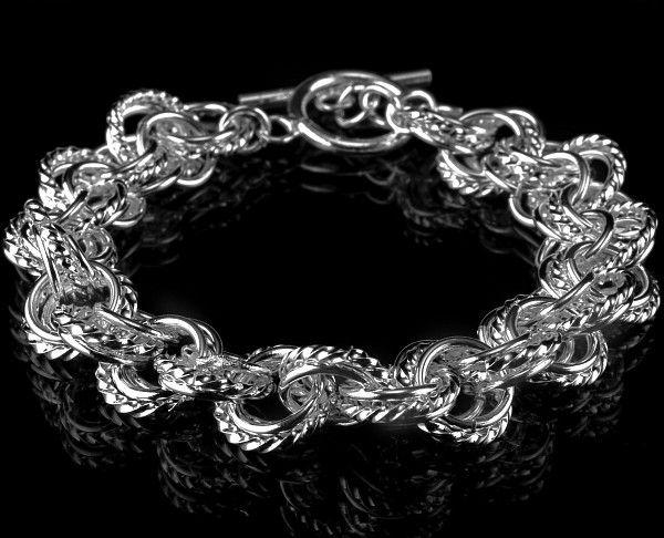Bransoletka Figaro próba 925 SREBRNA Silver Bracelet