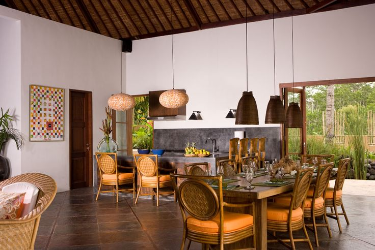 Kitchen and dinning at Villa Bayad Ubud Bali