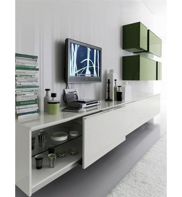 U201cDayu201d, A Modern Greenu0026White Living Room Design Part 67