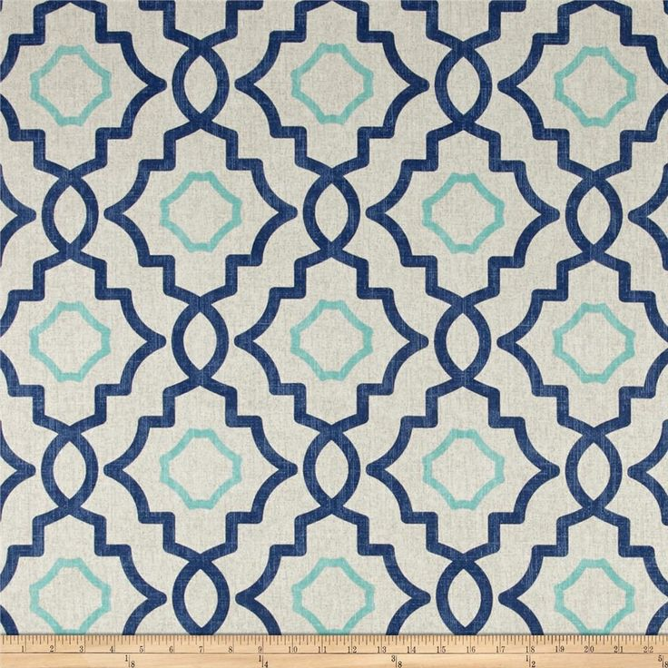 Magnolia Home Fashions Talbot Harbor from @fabricdotcom  Screen printed on cotton duck; this versatile, medium weight fabric is perfect for window accents (draperies, valances, curtains and swags), accent pillows, duvet covers, upholstery and other home decor accents. Create handbags, tote bags, aprons and more. Colors include blue, aqua and cream.
