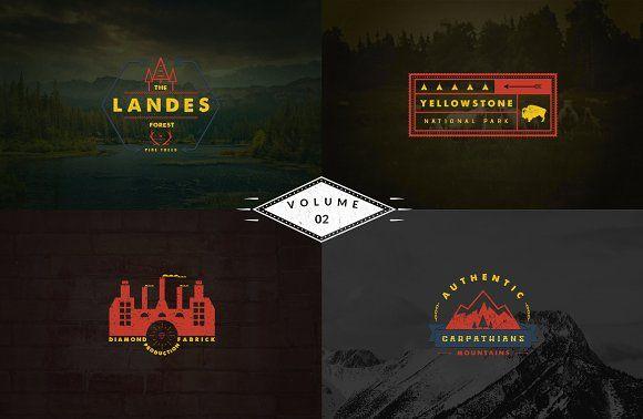 Vintage Logo Templates - vol 2 by Brazvan on @creativemarket