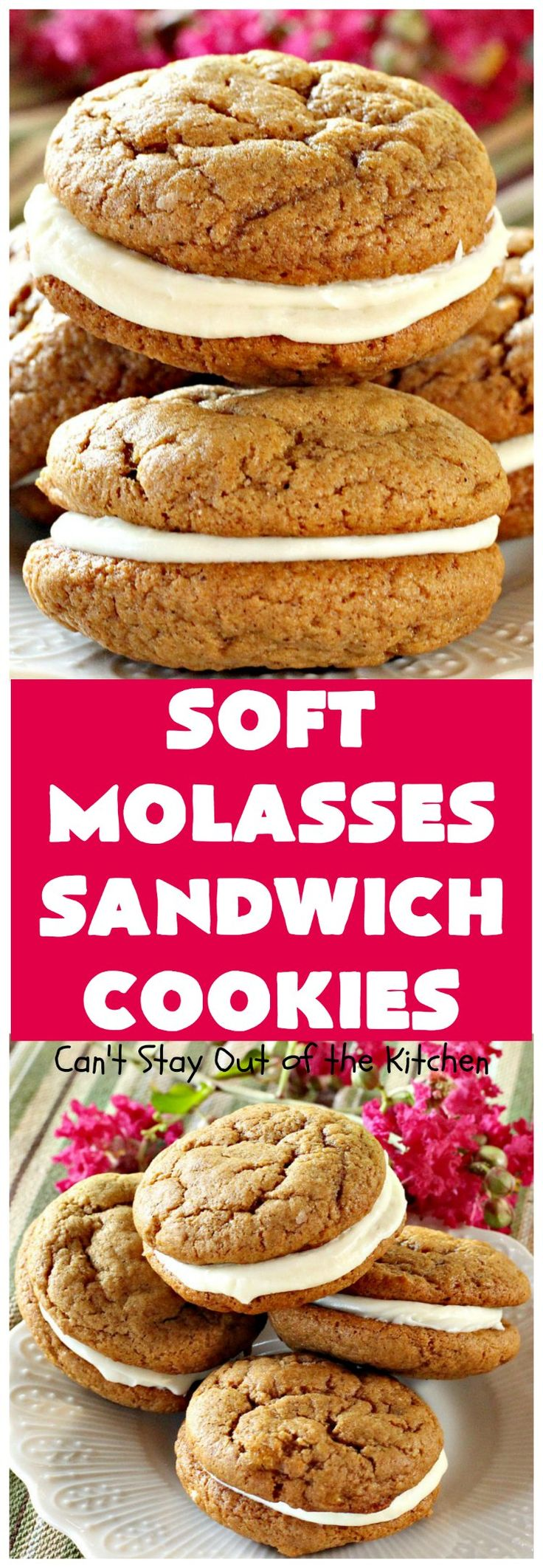 Soft Molasses Sandwich Cookies | These are always one of our most requested cookies at Christmas. Everybody loves them!