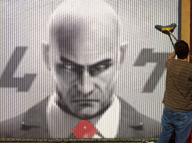 Artist Creates Portrait of Hitman's Agent 47 Out of 9,985 UPC Barcodes