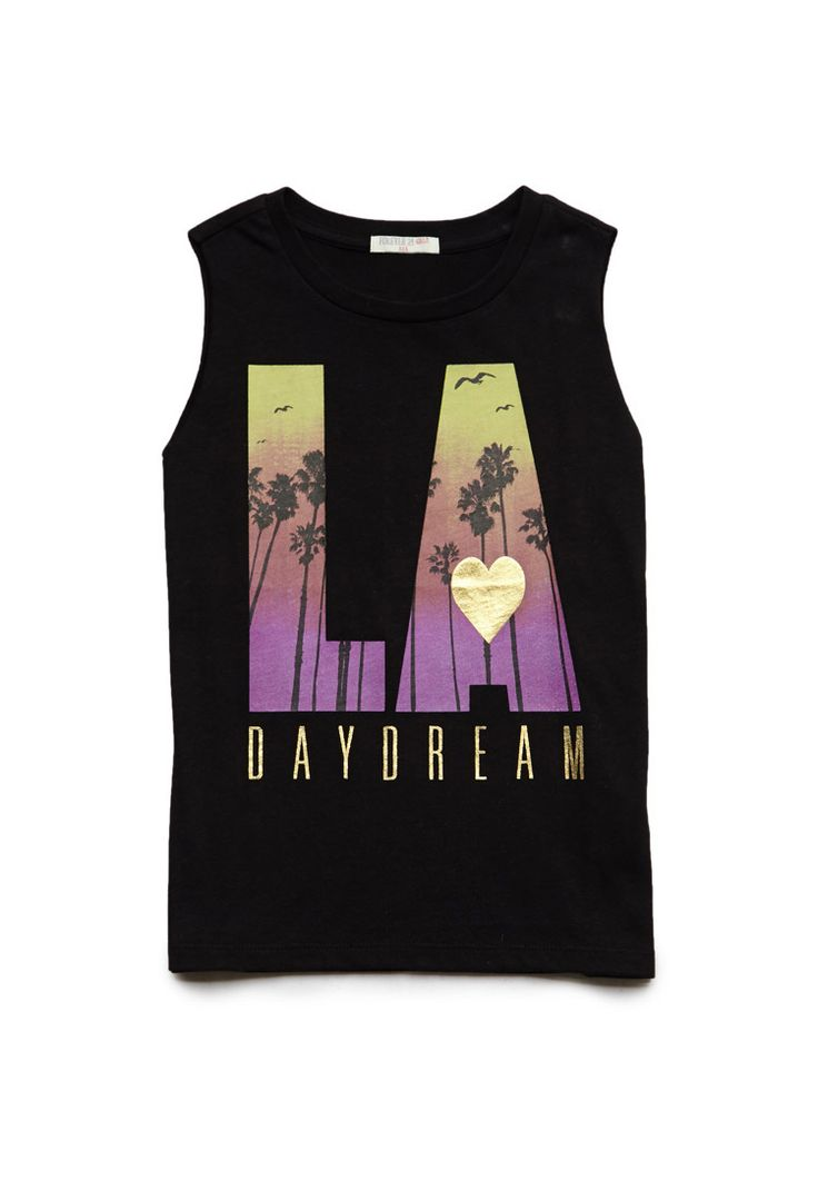 LA Daydream Muscle Tee (Kids) | FOREVER21 #F21Girls