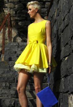 Jones + Jones Shannon Lemon Dress, bought in London; UK size 12; Excellent Used Condition; $50 shipped