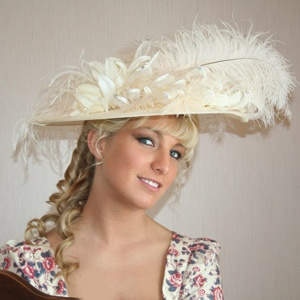 ivory hat for wedding