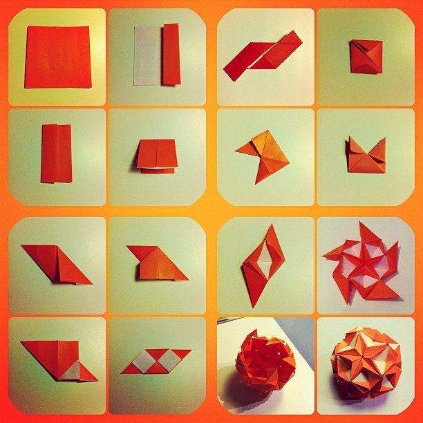 Sea Star kusudama ball designed by Tomoko Fuse. … | Origami models ... | 612x612