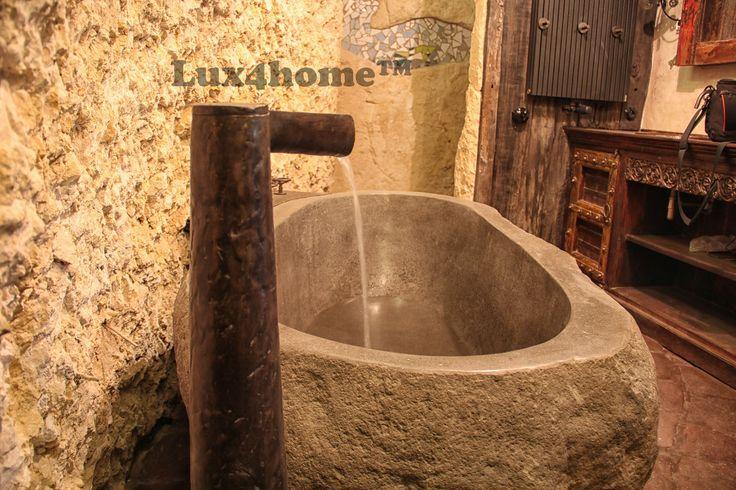 Kamienne wanny Lux4home™. Wanna z kamienia naturalnego w łazience. Produkcja w Indonezji - zamontowana w Polsce.