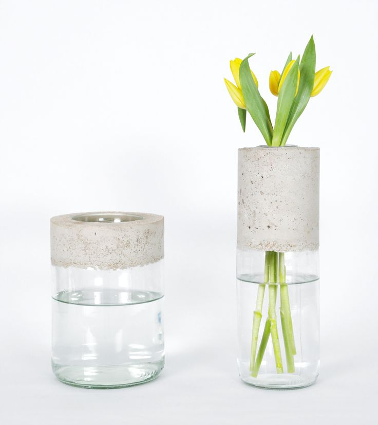 Best 20 diy concrete ideas on pinterest concrete for Deco vase en verre