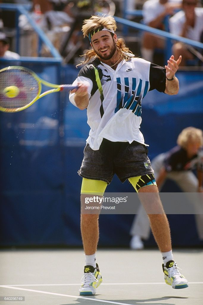 Andre Agassi From Usa At The 1990 U S Open In 2020 Andre Agassi Tennis Fashion Tennis Clothes