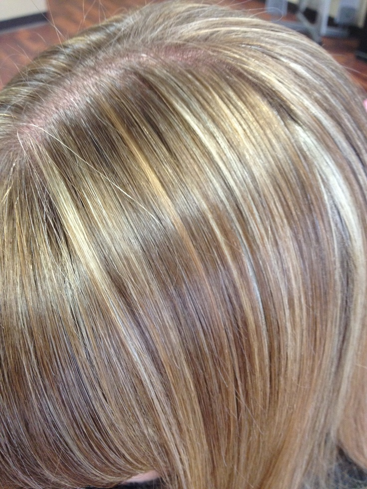 Natural Blonde Tones With Micro Highlights Straight Hair