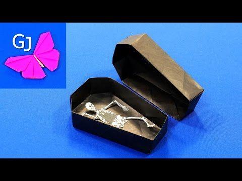 Оригами Гроб из бумаги на Хэллоуин - YouTube