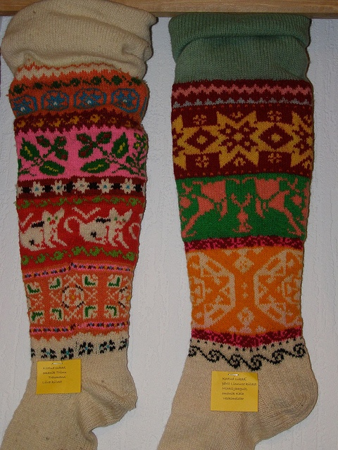 Muhu sukad-sokid / Folk socks and stockings, island Muhu  photo by Priit Halberg, pitsimeister, via Flickr. www.flickr.com/... by pitsimeister, via Flickr